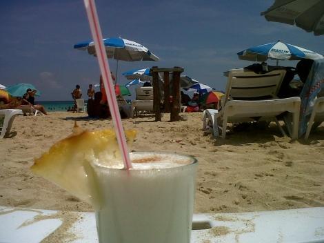 pina colada beach havana