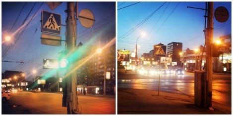 novosibirsk night light