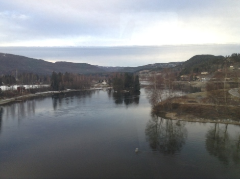 Train ride to Oslo