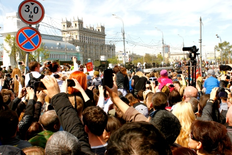 Victory Day Crowds Moscow