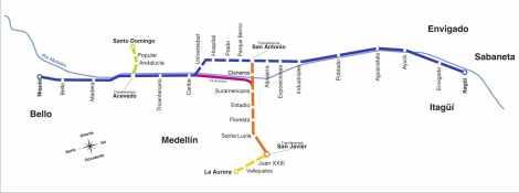 metro map Medellin