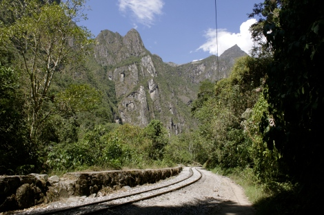 railway line from HydraElectrica to Aguas Calientes