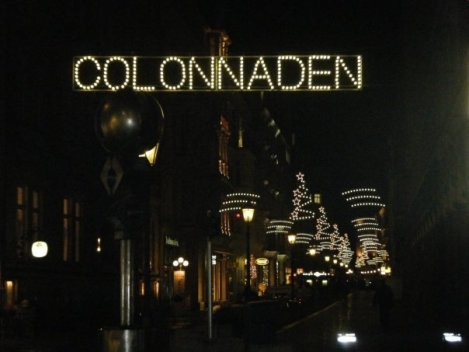 Colonnaden lights Hamburg