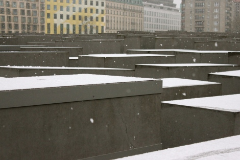 Snow Holocaust Memorial Berlin