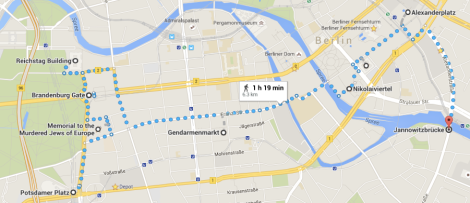 Berlin Christmas Market Route Plan