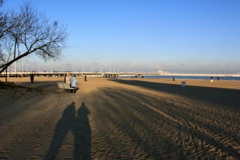 Sopot Beach in Winter