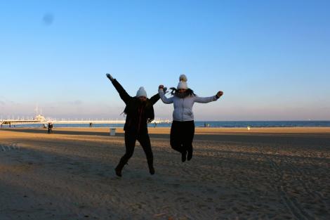 Sopot Beach Jumping in Winter