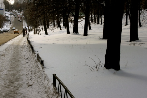 Snow in moscow