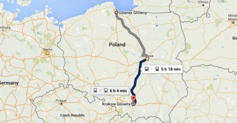How to get from Gdansk to Krakow