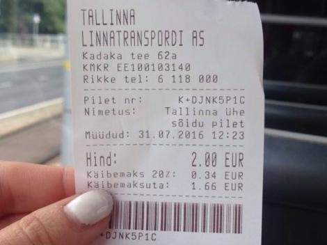 tram ticket tallinn